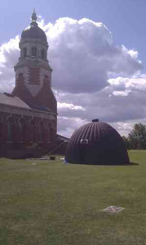 Outside Planetarium Dome